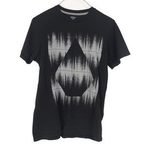 Volcom Mens Graphic Logo T shirt Black Small
